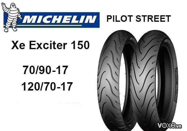 Vỏ xe michelin phù hợp với xe tay côn exciter 150 - 2