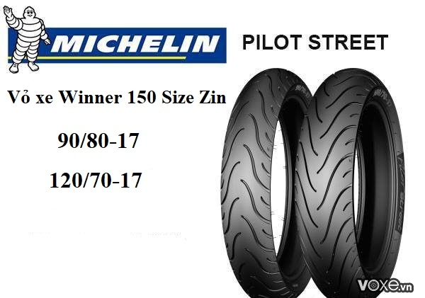 Vỏ xe michelin dành cho xe côn tay winner 150 - 2