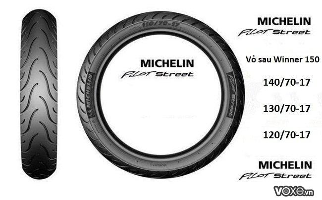 Thay vỏ 140 michelin cho mâm sau xe winner 150 có sử dụng được hay không - 3