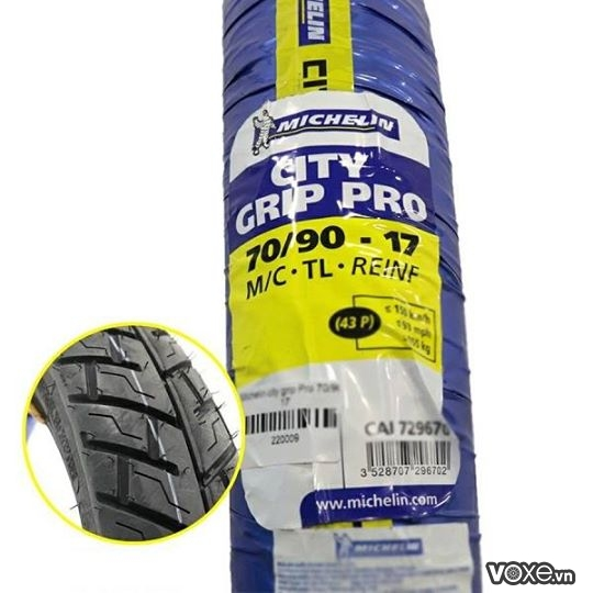 Vỏ Michelin City Grip Pro 70/90/-17 Wave Exciter