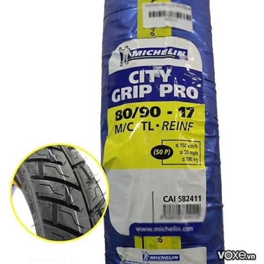 Vỏ Michelin City Grip Pro 80/90-17 Wave, Dream