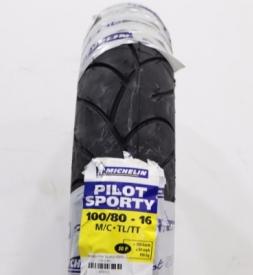 Vỏ xe Michelin Pilot Sporty 100/80-16 SH, Nouvo